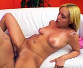Sexy blond latina with round ass and perky tits gets rough doggystyle pounding