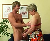 Horny old woman gets nailed by an young guy