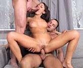 Skinny Russian babe Nensi B Medina loves cock and loves to be fucked hard!